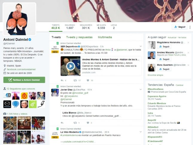 Twitter Antoni Daimiel