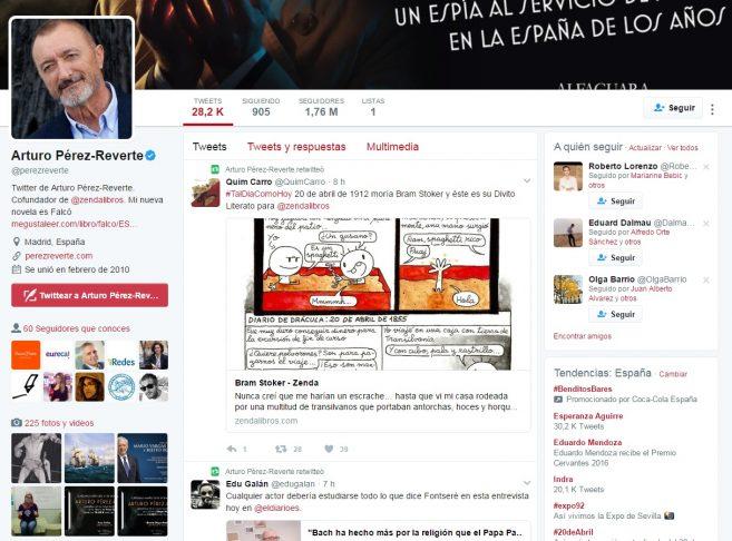 Twitter Pérez Reverte