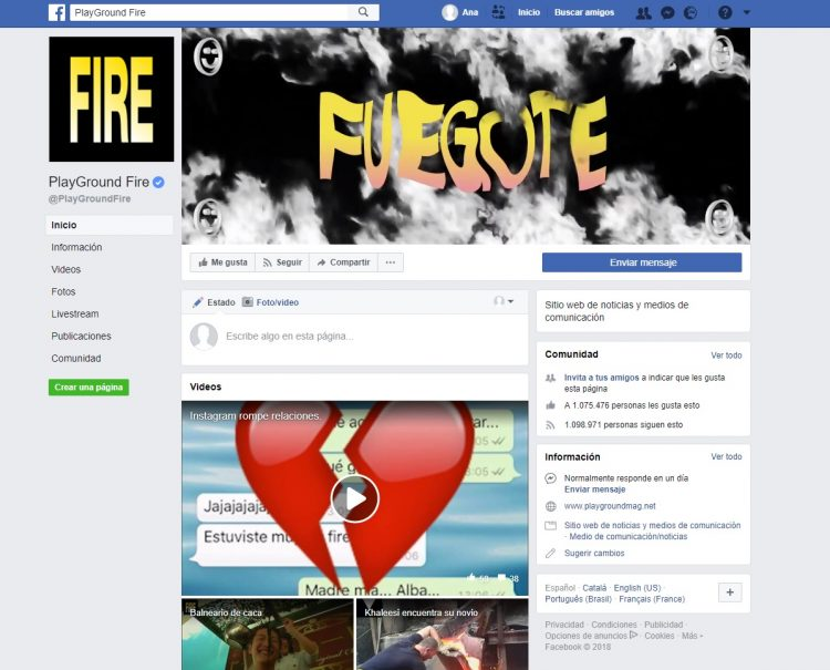 Facebook Playground Fire