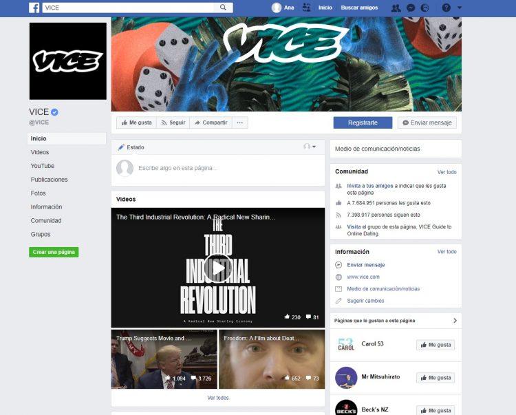 Facebook Vice