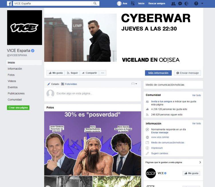 Facebook Vice España